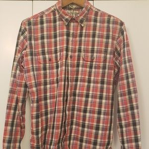 Red plaid Lucky Brand long sleeve shirt